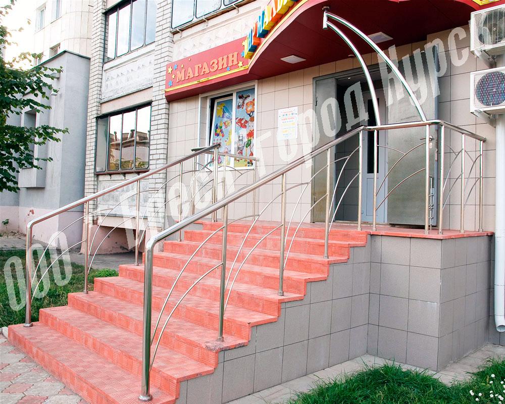 Лестничные ограждения из нержавеющей стали (нержавейки) в Курске, Воронеже, Липецке