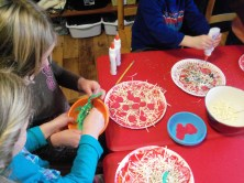 The children shared the ingredients well.