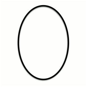 Design-Oval Simple Border