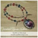 Faerieland Unicorn Necklace with Bright Agate, Faceted Amethyst & Art Pendant by Julie Fain
