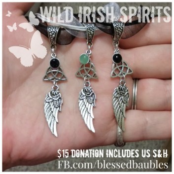 Wild Irish Spirits: Triquetra & Angel Wing Necklaces