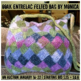 OOAK Entrelac Felted Bag by Monica