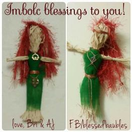 Brighid Dolls for Imbolc
