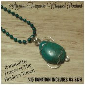 Wire-wrapped Turquoise Pendant by The Healer's Touch