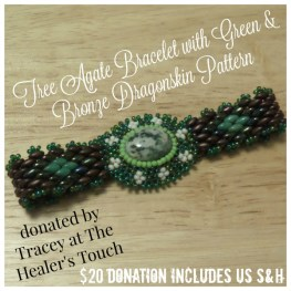 Tree Agate Bracelet with Dragonskin Pattern by The Healer's Touch