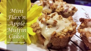 mini flax'n apple muffin cakes