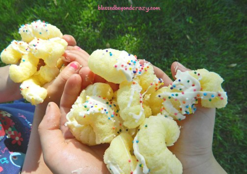white chocolate puff corn