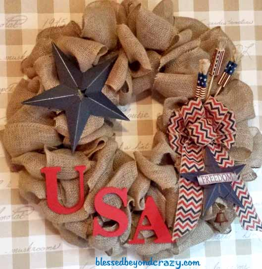 4th of July patriotic wreath
