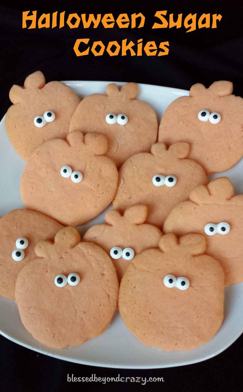halloween pumpkin sugar cookies9