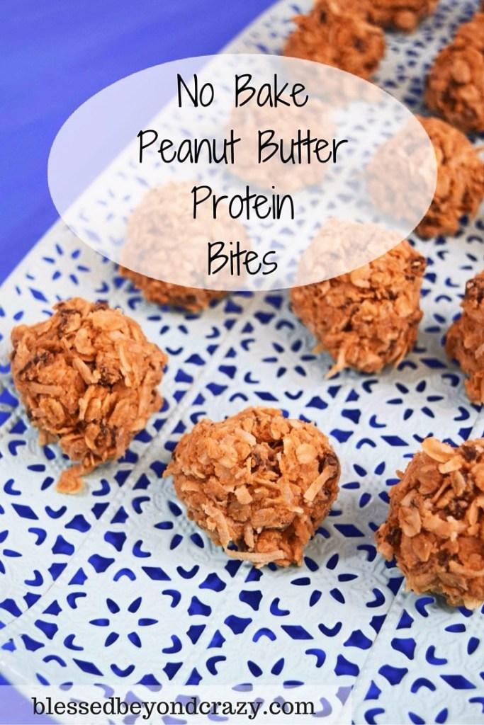 No Bake Protein Peanut Butter Bites