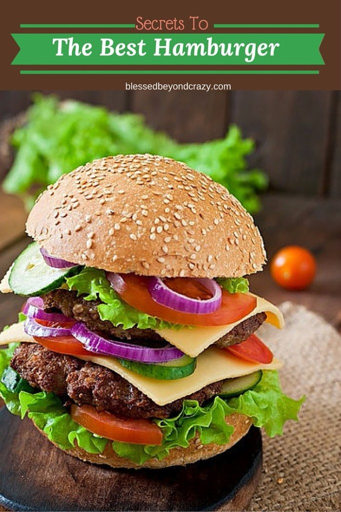 Secret To The Best Hamburgers 10