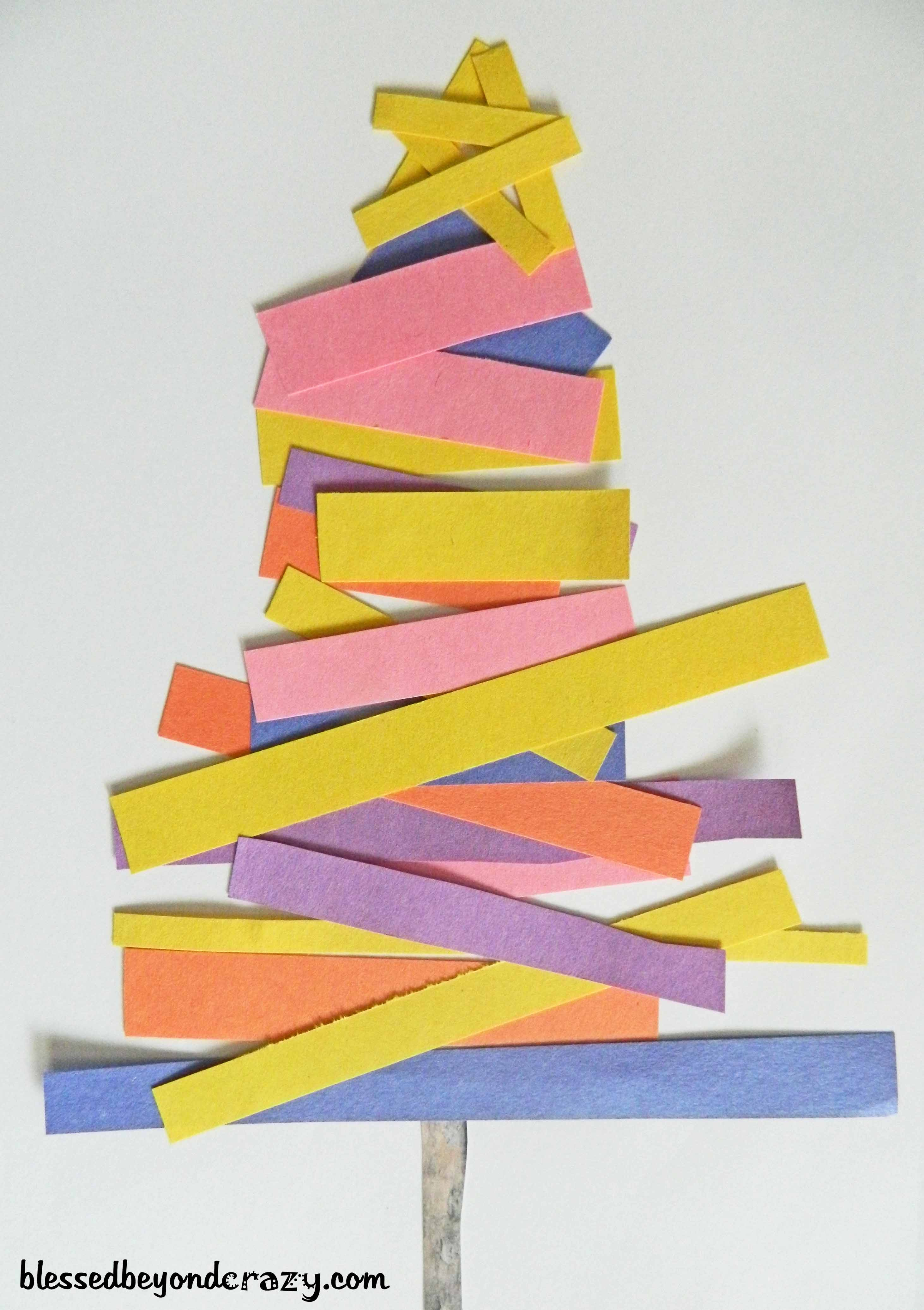 12 days of christmas crafts for kids day 7 for Holiday crafts with construction paper