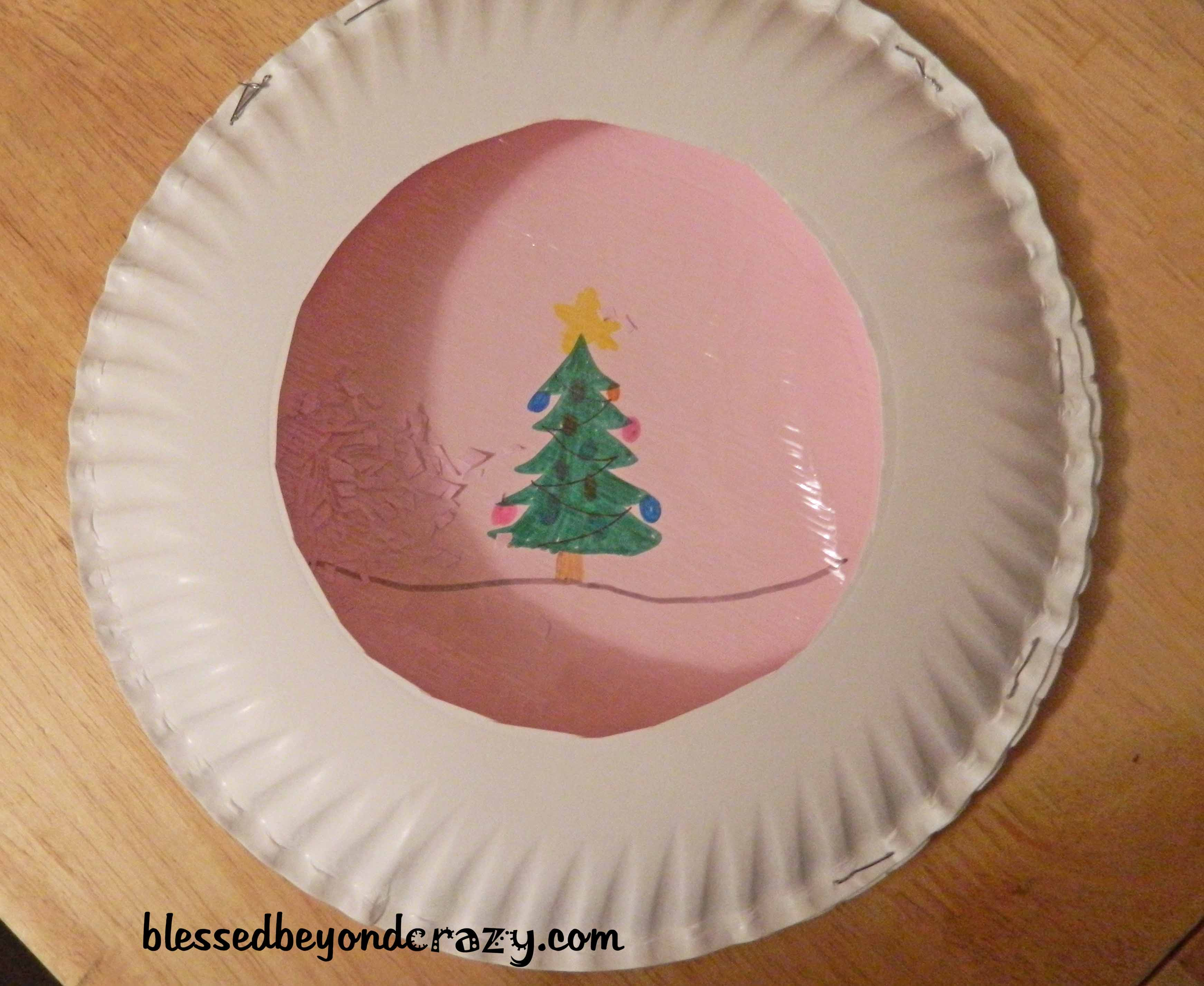 Day 11 Paper Plate Christmas Craft & 12 Days of Christmas Crafts for Kids-Day 11 -