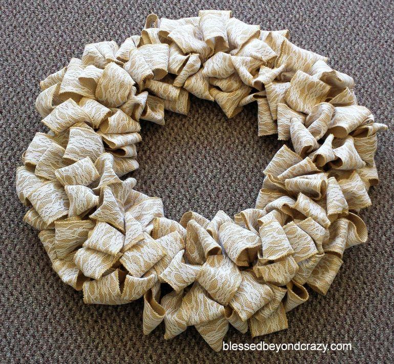 Burlap Wreath 8