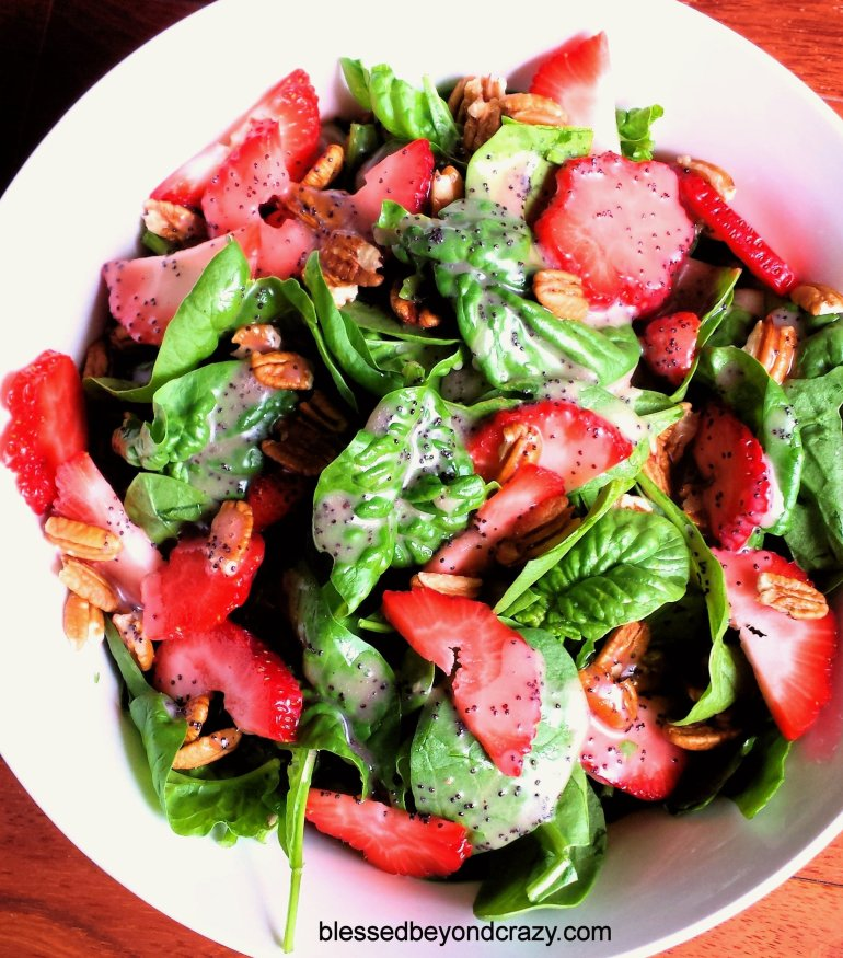 Strawberry Spinach Salad 7