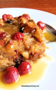 Isaac's Bourbon Cherry Bread Pudding