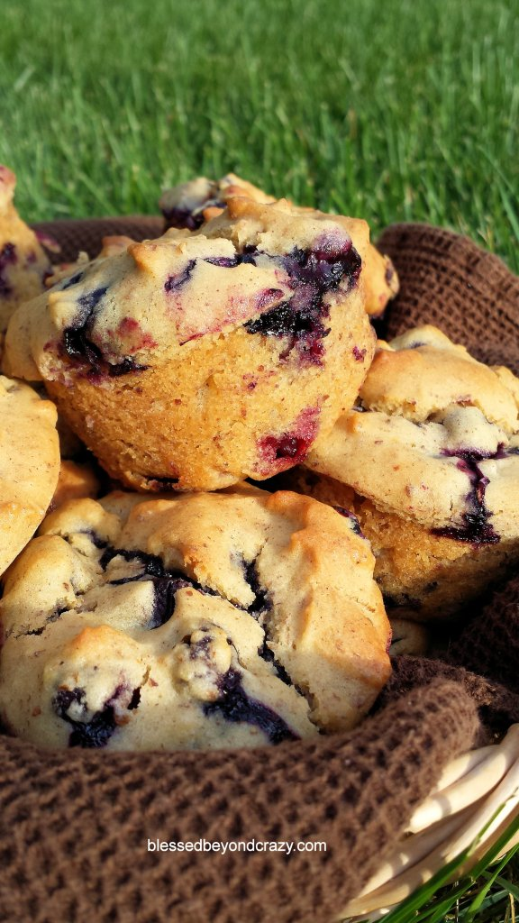 Quick Gluten Free Blueberry Muffins 2