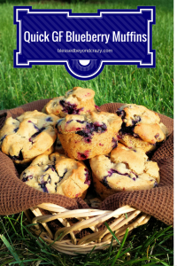 Quick Gluten Free Blueberry Muffins 1