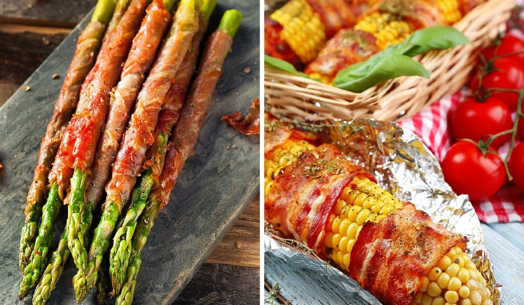Bacon wrapped vegetables (1)