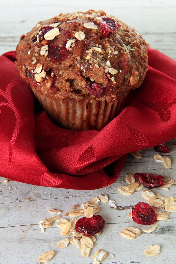 Healthy Recipes to Bake this Christmas Cranberry Honey Pecan Bran Muffins