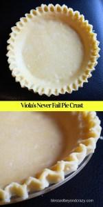 Viola Miller's Never Fail Pie Crust 2016