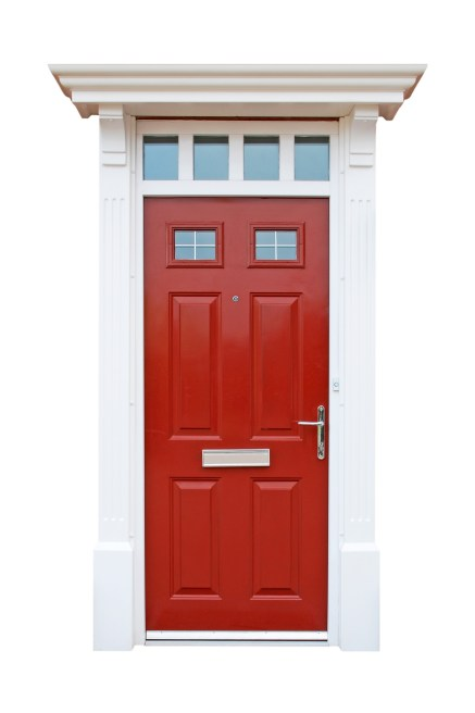 red front door update your home