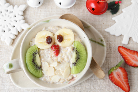 owl porridge Christmas breakfast ideas