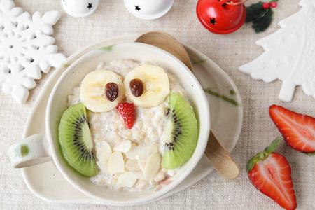 owl porridge Christmas breakfast ideas