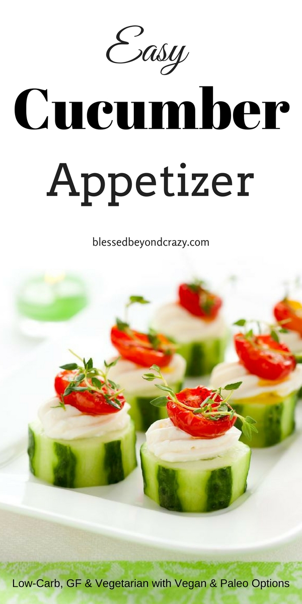 Easy cucumber appetizer seems like it doesnt get much easier than this easy cucumber appetizer forumfinder Images