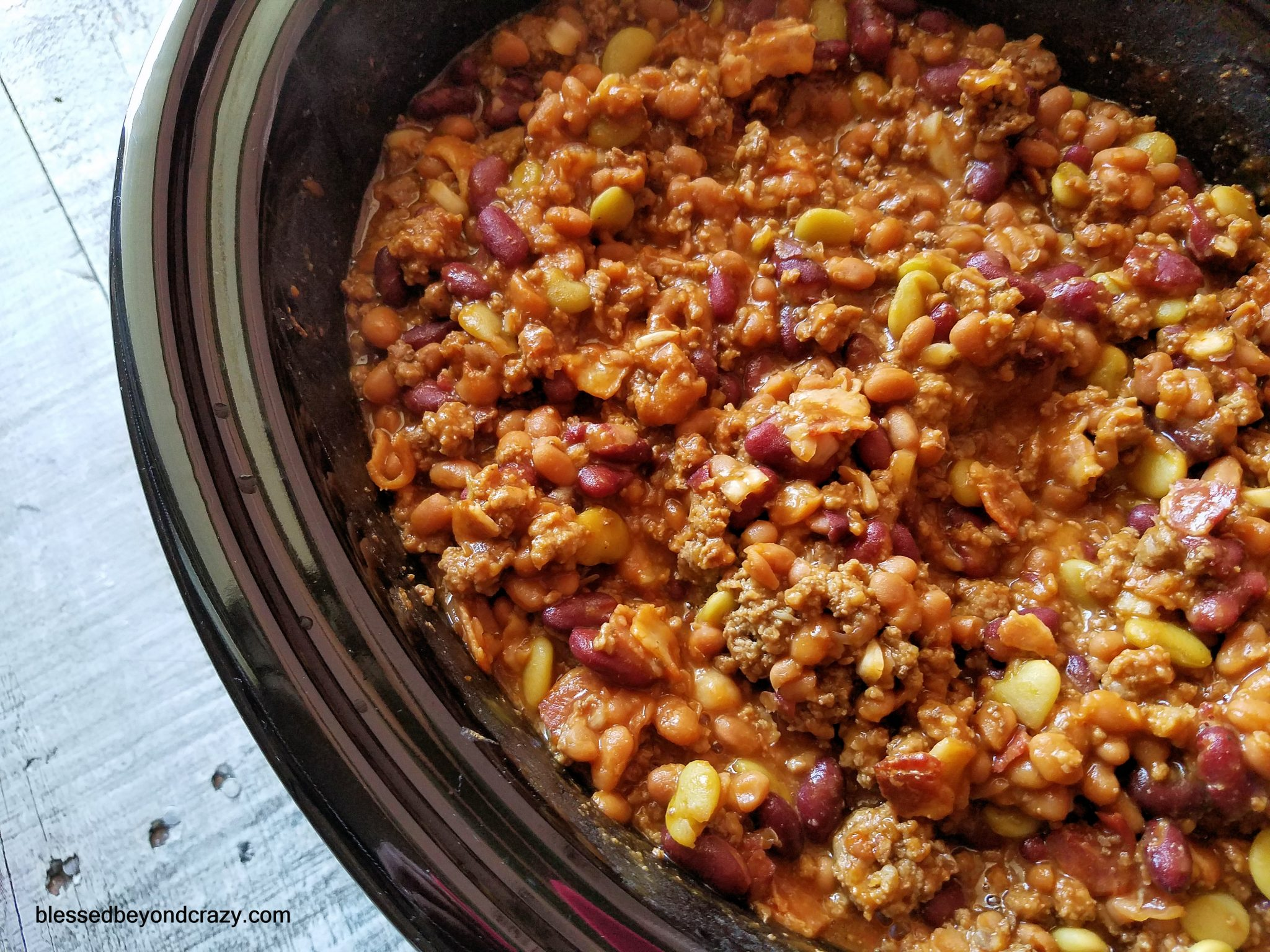 Loaded Crock-Pot Campfire Beans