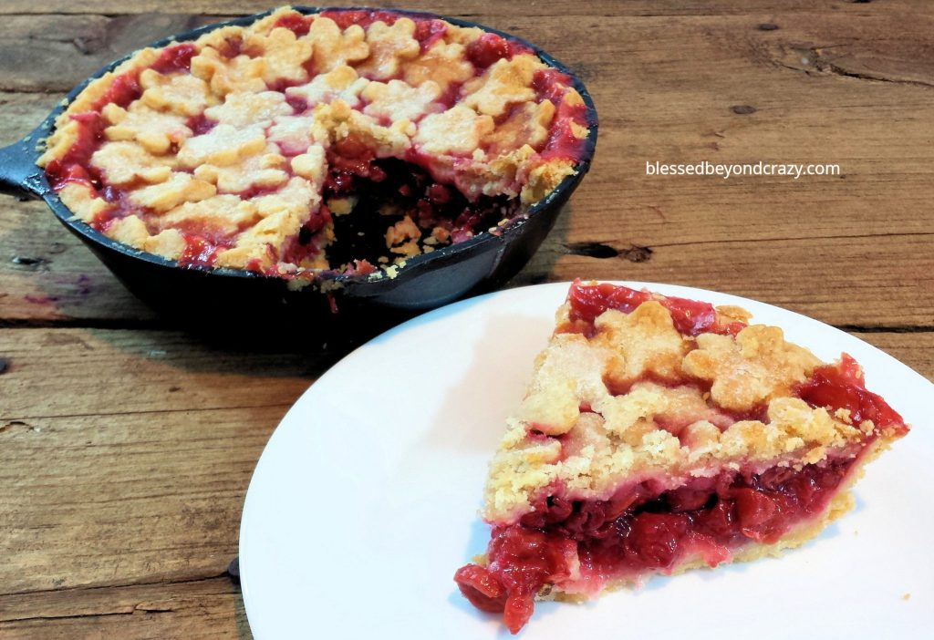 Rustic Cast Iron Skillet Cherry Pie