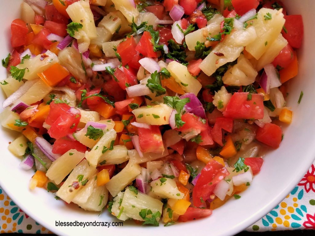 Pineapple Tomato Salsa