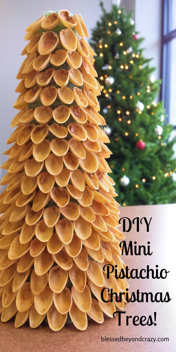 DIY Mini Pistachio Christmas Trees