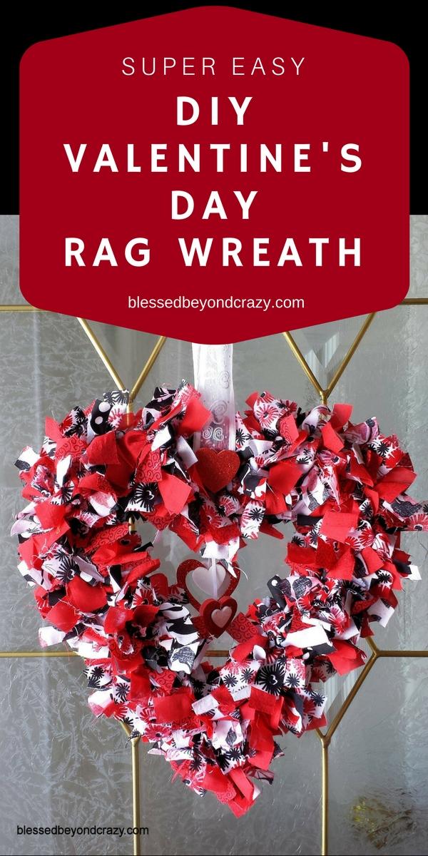 Super Easy DIY Valentine's Day Rag Wreath