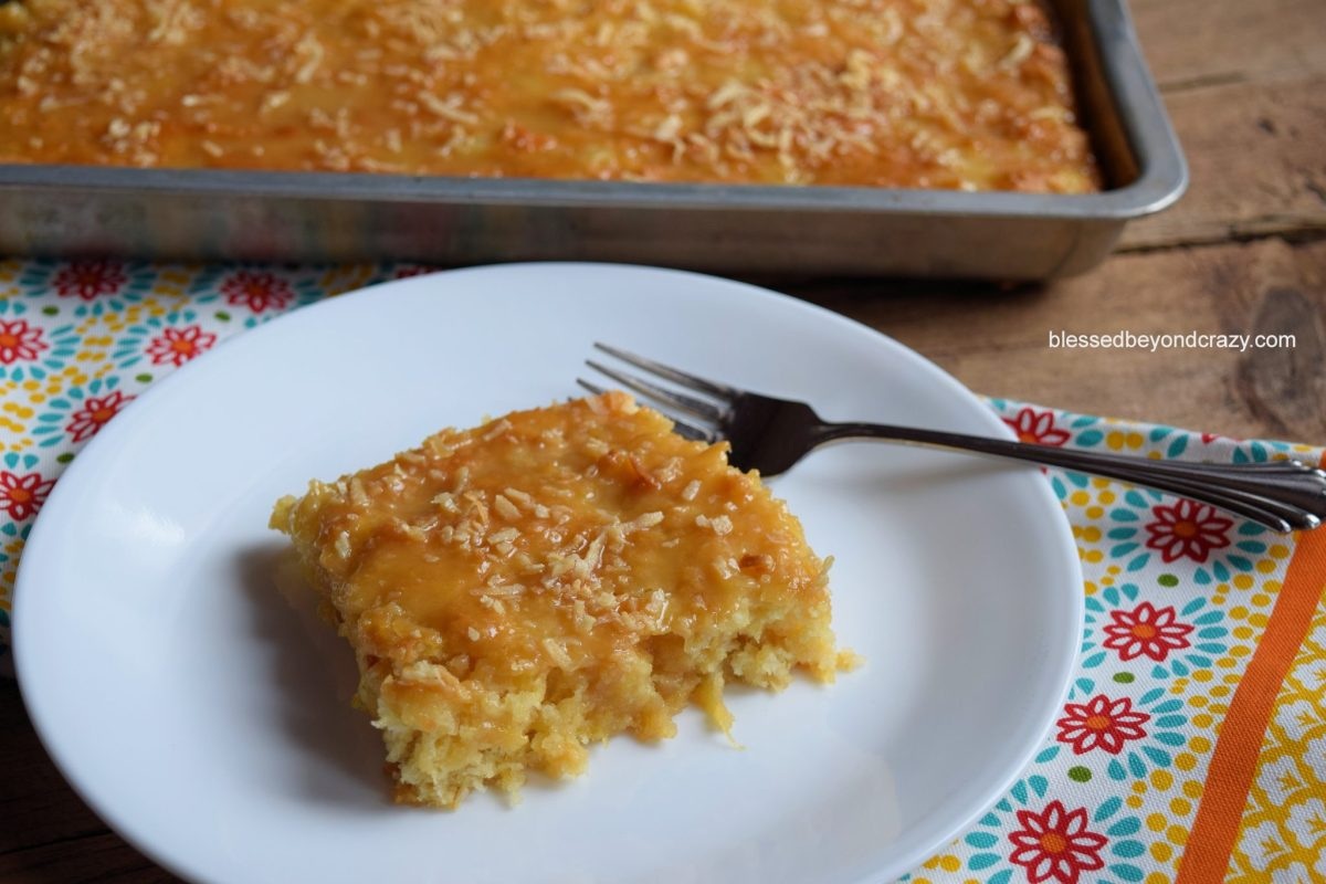 Pineapple Coconut Sheet Cake