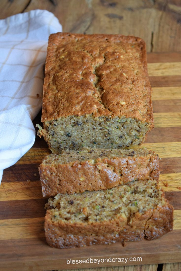 Cream Cheese Zucchini Bread (Gluten-Free Option)