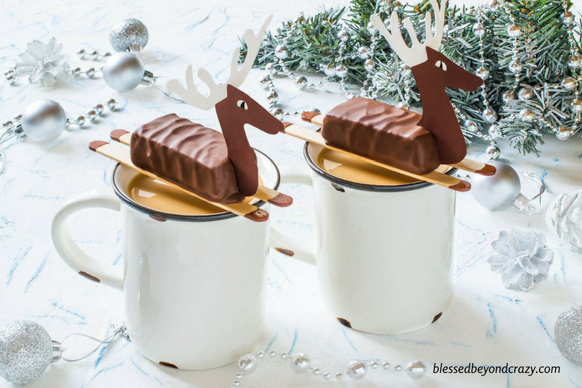 Cute Reindeer Candy Bar Favors