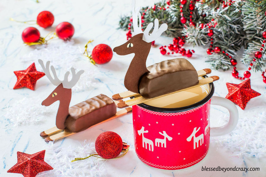 Reindeer Candy Bar Favors