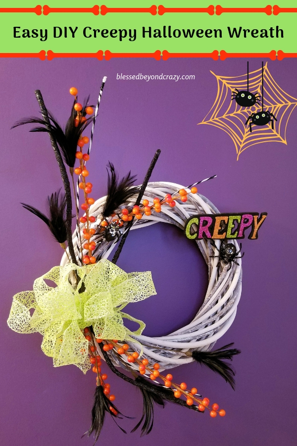 Easy DIY Creepy Halloween Wreath