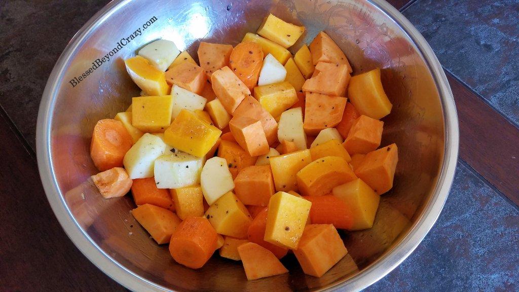 Preparing Healthy Sheet Pan Roasted Vegetables