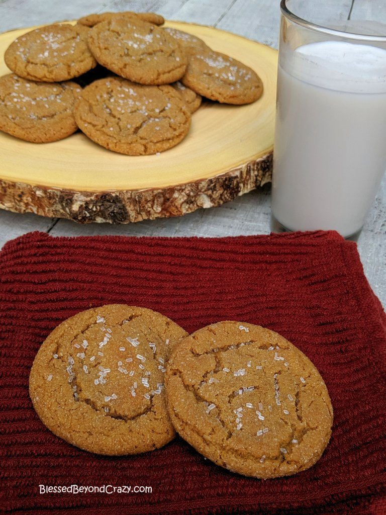 Plate of fresh Ginger Snap Cookies