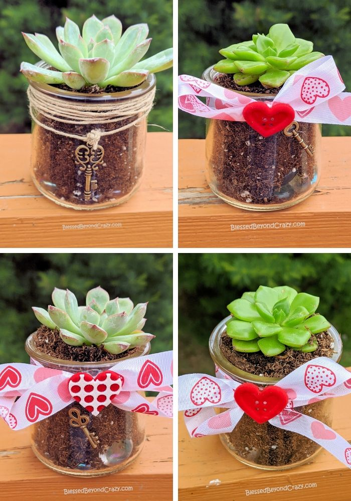 My granddaughter's Repurposed Succulent Planters Kids Can Easily Make