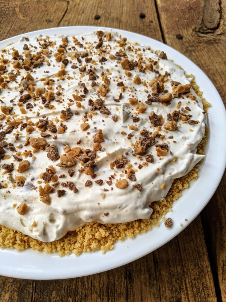 No-Bake Toffee Bits Cream Cheese Pie (Gluten-Free Option)