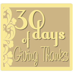 30 Days of Giving Thanks