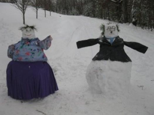 Preacher & Ms Glenda captured in snow.