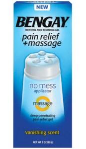bengay pain relief massage gel