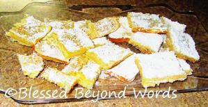 #BackyardBash Recipe: Lemon Bars