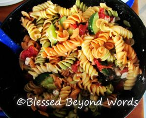 #BackyardBash Recipe: Greek Pasta Salad