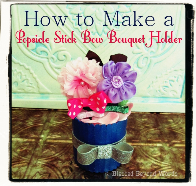 How to make a popsicle stick bow bouquet