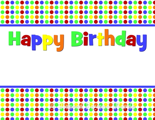 Birthday Sign Printable